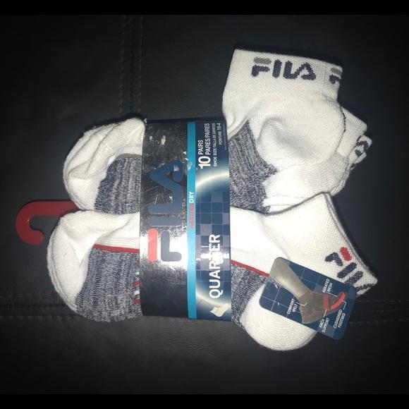 Fila Boys 10-Pack Quarter Crew Socks